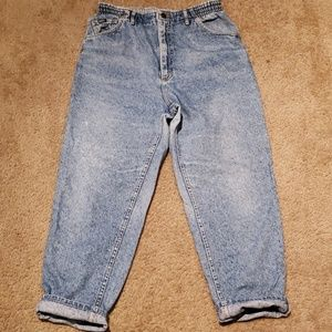 Vtg Womens Lee Denim Mom Jeans